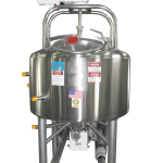 100 GALLON INSULATED AND JACKETED VERTICAL DYNAMIXER PROCESSOR TANK