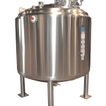 3,000 Liter Round Vertical Jacketed and Insulated Product Storage Vessel