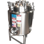 40 GALLON INSULATED AND JACKETED VERTICAL TANK