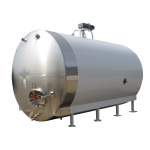 5000 Gallon Insulated and Jacketed Round Horizontal