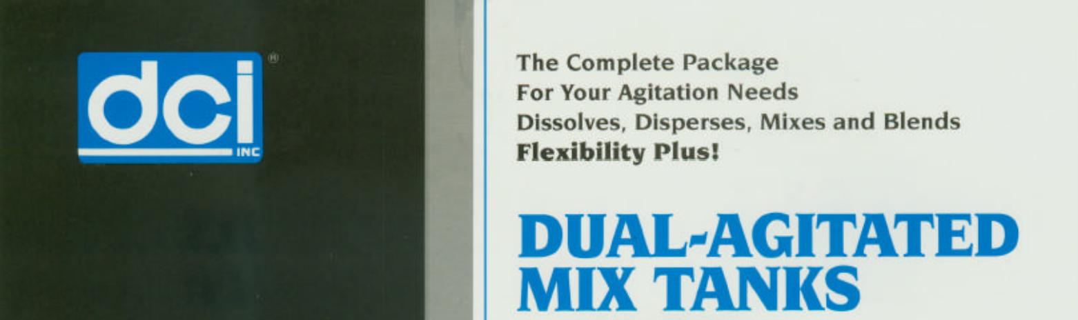 Dual Agitated Mix Tank