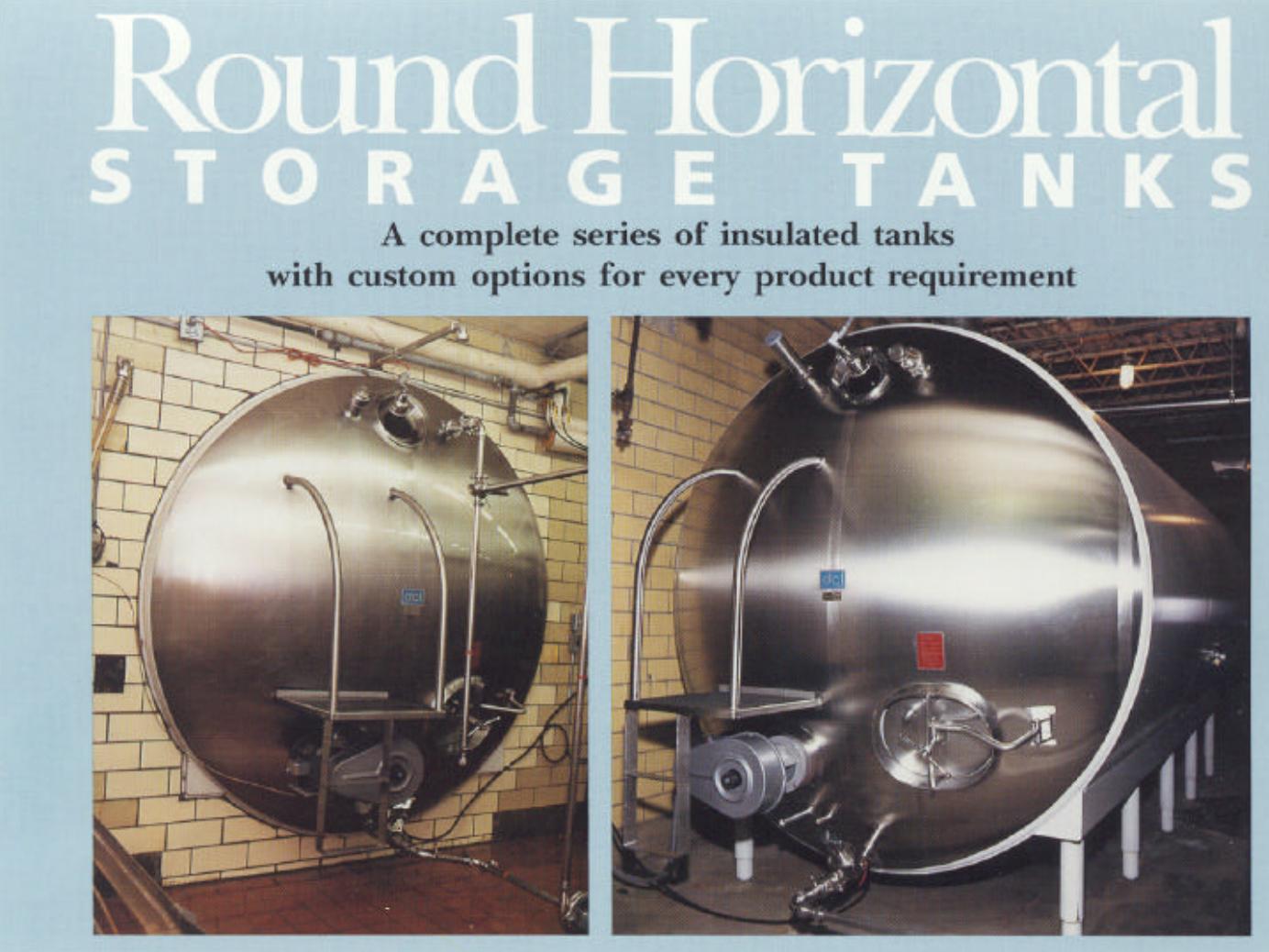 Round Horizontal Storage Tanks